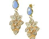 Periwinkle Dewdrop Earrings