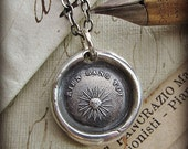 Nothing Without You - You are my Sunshine - French motto wax seal necklace - FP320