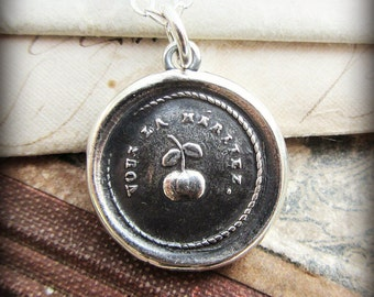 Celebrate Big Moments Wax Seal Necklace - The Cherry on Top -  Celebrate your Accomplishments - Celebration Jewelry - FR530