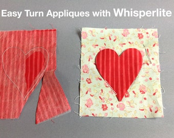 Whisperlite tracer foundation material for quilting