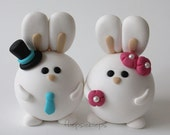 Custom Bunny Wedding Cake Topper