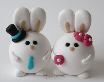 Custom Bunny Wedding Cake Topper