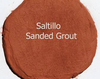 Desert SALTILLO 2 Pounds Mosaic Tile Grout Burnt Orange Brown Sanded Polymer Fortified for Home Projects - Just Add Water