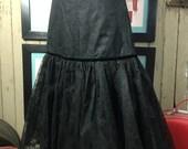 On sale 1950s crinoline vintage crinoline black crinoline flocked crinoline vintage under skirt 50s petticoat