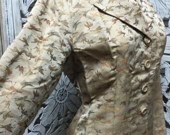 On sale 1940s champagne jacket 40s Asian jacket size medium large Vintage fitted blazer