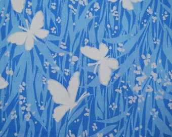 OOP fabric Butterfly screen print cotton