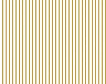 Wonderland Stripe - From Riley Blake - Gold - 9.95 A Yard