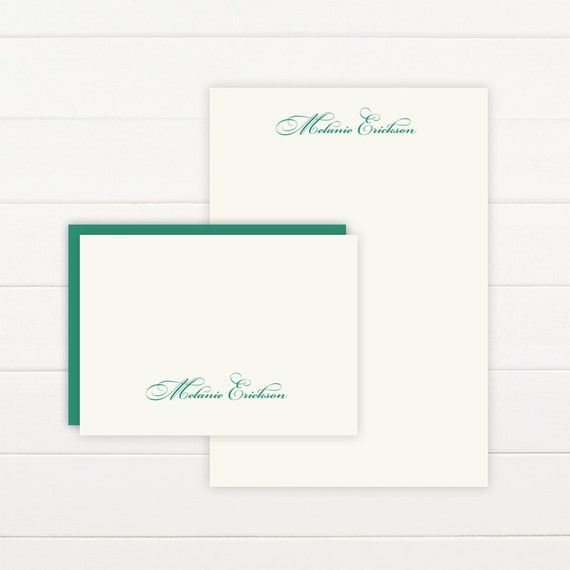 FORTUNE Personalized Stationery + Notepad Set, Personalized Notepad and Personalized Stationary