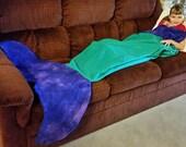 Mermaid Sack Blanket - Emerald/Purple