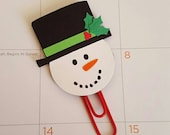 Snowman Paperclip| Planner Addicts| Planner Paperclip| Winter Planner Layout|Bookmark