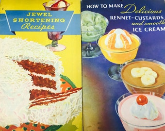 Adorable Vintage Desset Recipe Cookbook Booklets