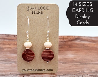 Earring Cards Customized with Your Logo and Text