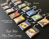 Harry Potter Mini Book Charm Earrings - UK or USA version (set of 7 books)