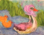 4 Prints of MOTHER GOOSE-Painting for children-print of wool painting-art for kids