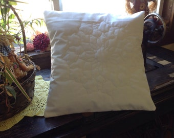 "14"" Pillow covers snowflake quilted set of two envelope style"