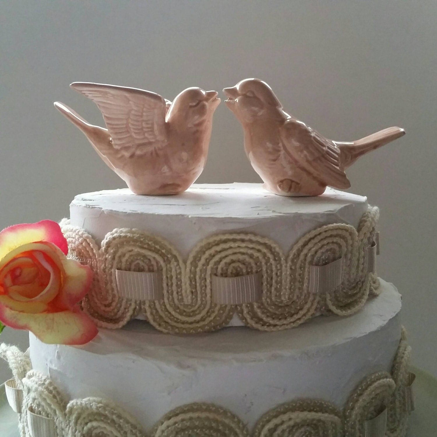 personalised ceramic wedding cake toppers birds wedding cake topper color birds ceramic birds 18209