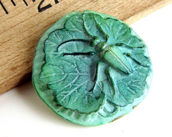 Handmade Clay Lily Pad Pendant/Focal