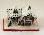 Miniature Snowy Gingerbread Chalet