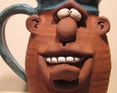 Happy  Tongue Out  Mug ........    e818