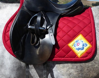 Be Bright! All Purpose English Saddle Pad FA-62 The Floral Collection