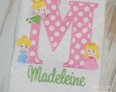 Personalized Princess inspired birthday shirt Girls Boutique free Monogram short long sleeve custom embroidered sew cute creations