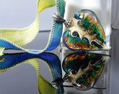 Spring heart - lampwork heart - made by ISR - Glasdesign
