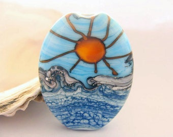 The Sun and The Sea Handmade Lampwork Bead