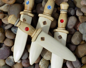 Jeweled Dirk Wooden Toy Knife