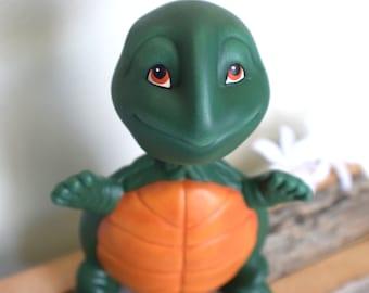 Bobble Head Turtle - Ceramic Bobble Head - Hand Painted Decor - Outdoor Garden Decor - Fine Art Ceramics - Bobble Head Turtle - Gift for kid