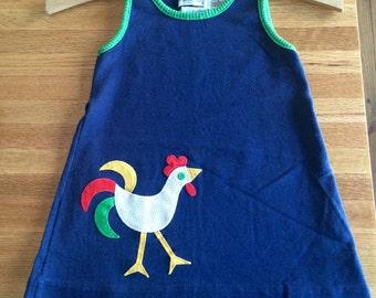 Vintage girls Saks Fifth Avenue cotton summer tunic dress 4 years