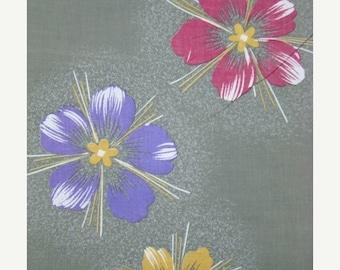 ON SALE Retro Cotton vintage Japanese kimono fabric panels
