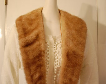 one 1 real fur collar vintage from coat for sewing fashion project runway supplies
