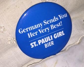 St Pauli Girl Beir Beer Badge