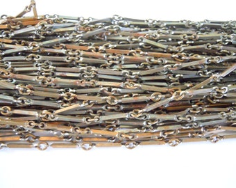 Vintage Rusty Square Link Industrial Steel Chain
