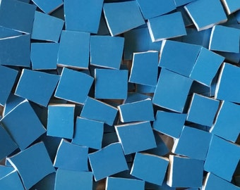 Mosaic Tiles--Peacock Blue-- 100 Pieces.
