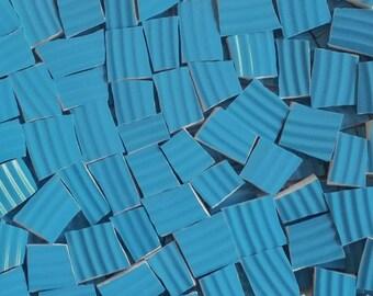 Mosaic Tiles--Peacock Blue- Ridges--No texture on opposite side--50 Tiles--Great Filler