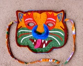 Super Colorful Mola Cat Mask - Hand Sewn Kuna Indian Reverse Applique