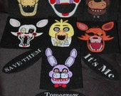 Full Set of 5 Nights at Freddies Iron On Patches