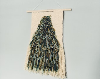 shaggy tree weaving | woven wall hanging