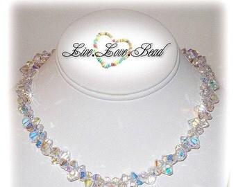 ON SALE 15% OFF Genuine Swarovski Crystal Fire and Ice Necklace
