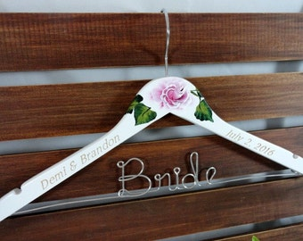 Hanger With Date Engraved - Personalized Bride Hanger - Bride Hanger - Engraved Hanger - Wedding Coat Hangers - Dress Hangers - Bridesmaid