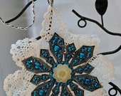 Blue Start doilly - Christmas ornament