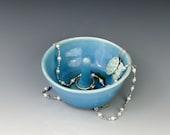 Turquoise Ring Holder, Ring Dish, Ceramic Jewelry Dish, Ring Tree, Handmade Pottery