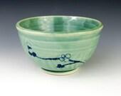 Small Green Bowl, Rice Bowl or Dip Bowl - Wheel Thrown Pottery