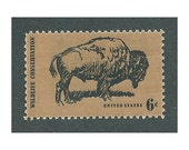 6c American Buffalo stamp .. Pack of 10 Unused postage stamps .. Vintage postage stamps. Old West, Wildlife Conservation, Great Plains USA