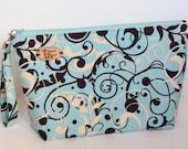 Swirl Print Knitting Project Bag