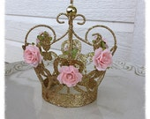 Birthday Decorations Shabby Chic Crown for Birthday Decor Cake Topper