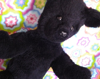 Bear Black, Arm Puppet, movable arms and legs, faux fur, charming