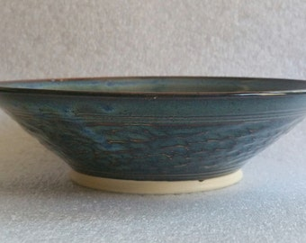 Blue Pottery Bowl, good for soup, salad or cereal!  Wheel Thrown Ceramics