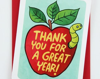 Thank You for a Great Year - Teacher thank you card, Teacher Appreciation, Bus Driver Appreciation card, Bus Driver Thank You Card